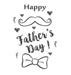 Doodle father day celebration collection vector