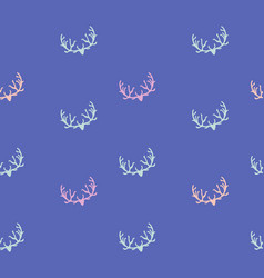 doodle hand drawn seamless patterns with deers vector image