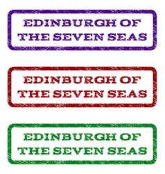 Edinburgh of the seven seas watermark stamp vector