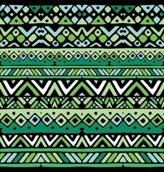 ethnic mexican tribal green stripes seamless vector image