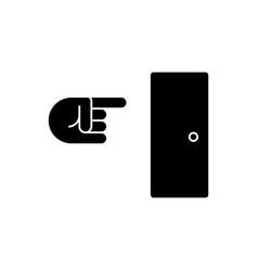 exit icon black sign on vector image