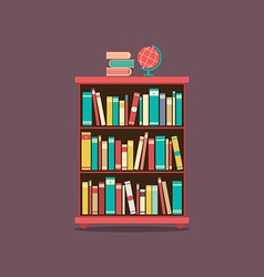 Flat Design Book Cabinet vector image
