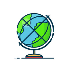 globe earth sphere modern line vector image