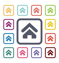 home flat icons set vector image