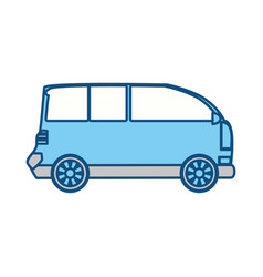 isolated van car vector image