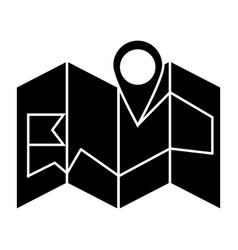 map navigation icon sign o vector image