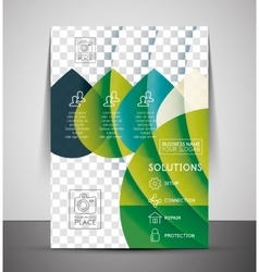 Nature corporate flyer print template vector