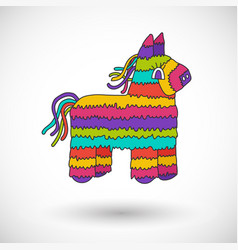 Pinata icon with round shadow vector