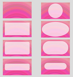 Pink digital art business card template design set vector