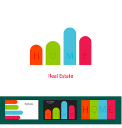 Real estate agency investment logo concept vector