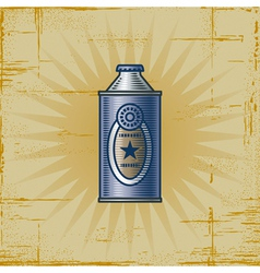 Retro Lemonade Can vector image