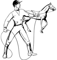 Rider and horse vector image