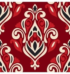 royal red damask flourish pattern vector image