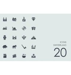 Set of switzerland icons vector