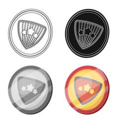 Shield single icon in cartoon styleshield vector