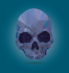 Skull low poly crystal vector image vector image