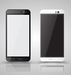 Smartphone mockup black and white vector