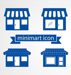 Store flat icon on white background vector