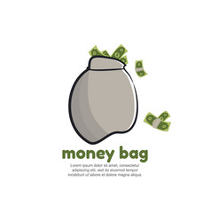Template logo for money bag vector