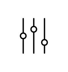 Thin line slider bar eq icon vector