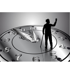 Time passes vector
