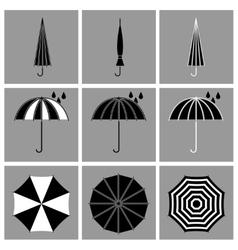 Umbrella black icons vector image vector image