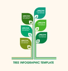 Tree infographic with icons and copy space text vector