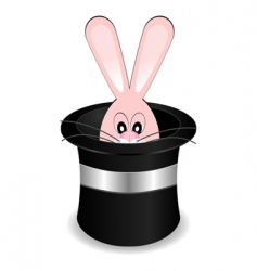 Magician hat with rabbit vector