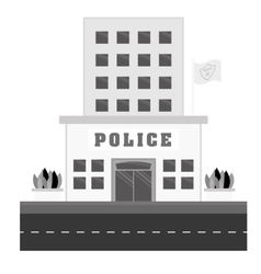 grayscale police station icon image vector image