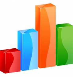 3d color bar graph histogram vector