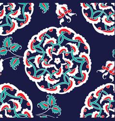 Turkish iznik tile seamless islamic pattern with vector