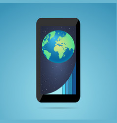 Business growth concept phone useful for vector