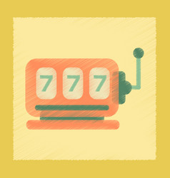 Flat shading style icon slot machine vector