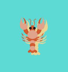 Sea fish in sticker style vector