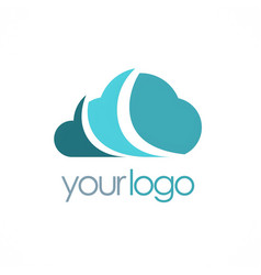 cloud technology logo vector image