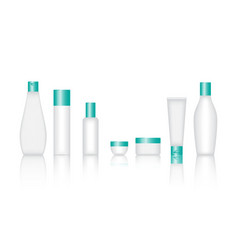 Cosmetic bottle set vector
