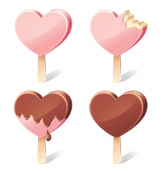 Yummy hearts vector