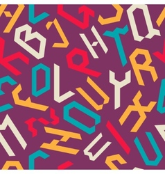 Alphabet pattern vector
