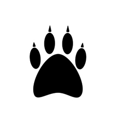 Black paw icon isolated on white background vector