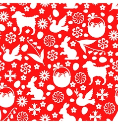 Easter pattern red vector