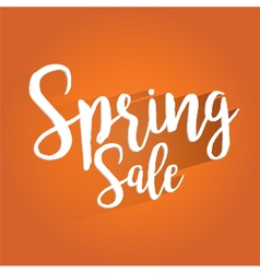 Spring sale lettering design vector