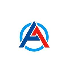 A letter business construction symbol logo vector image