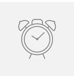 Alarm clock line icon vector image