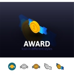 Award icon in different style vector