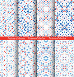 blue flower pattern backgrounds vector image
