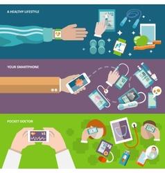 Digital health banner vector