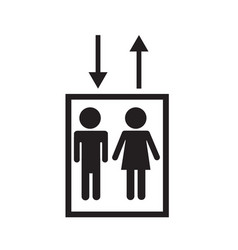 elevator icon on white background elevator sign vector image