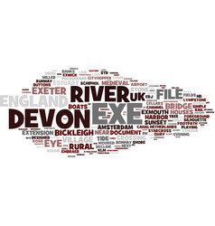 Exe word cloud concept vector