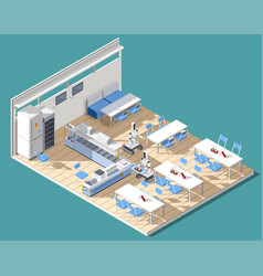 fastfood restaurant isometric composition vector image vector image