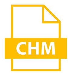 File name extension chm type vector